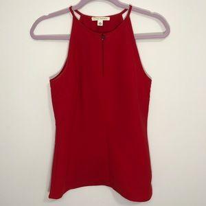 Banana Republic red sleeveless top